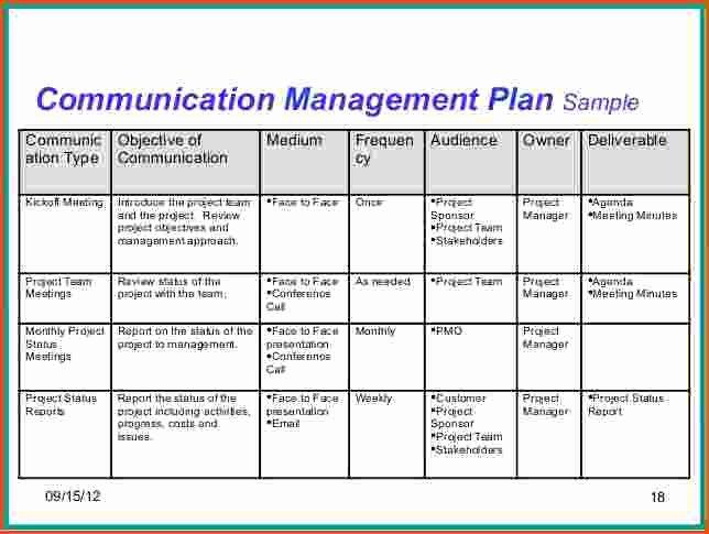 Project Munication Plan