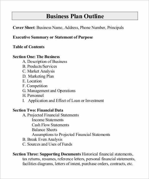 Project Outline Template 10 Free Word Excel Pdf