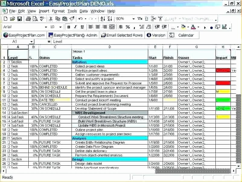 Project Plan Examples In Excel Sample Project Plan Excel