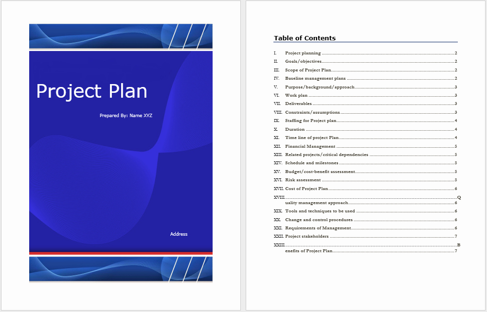 Project Plan Template – Microsoft Word Templates