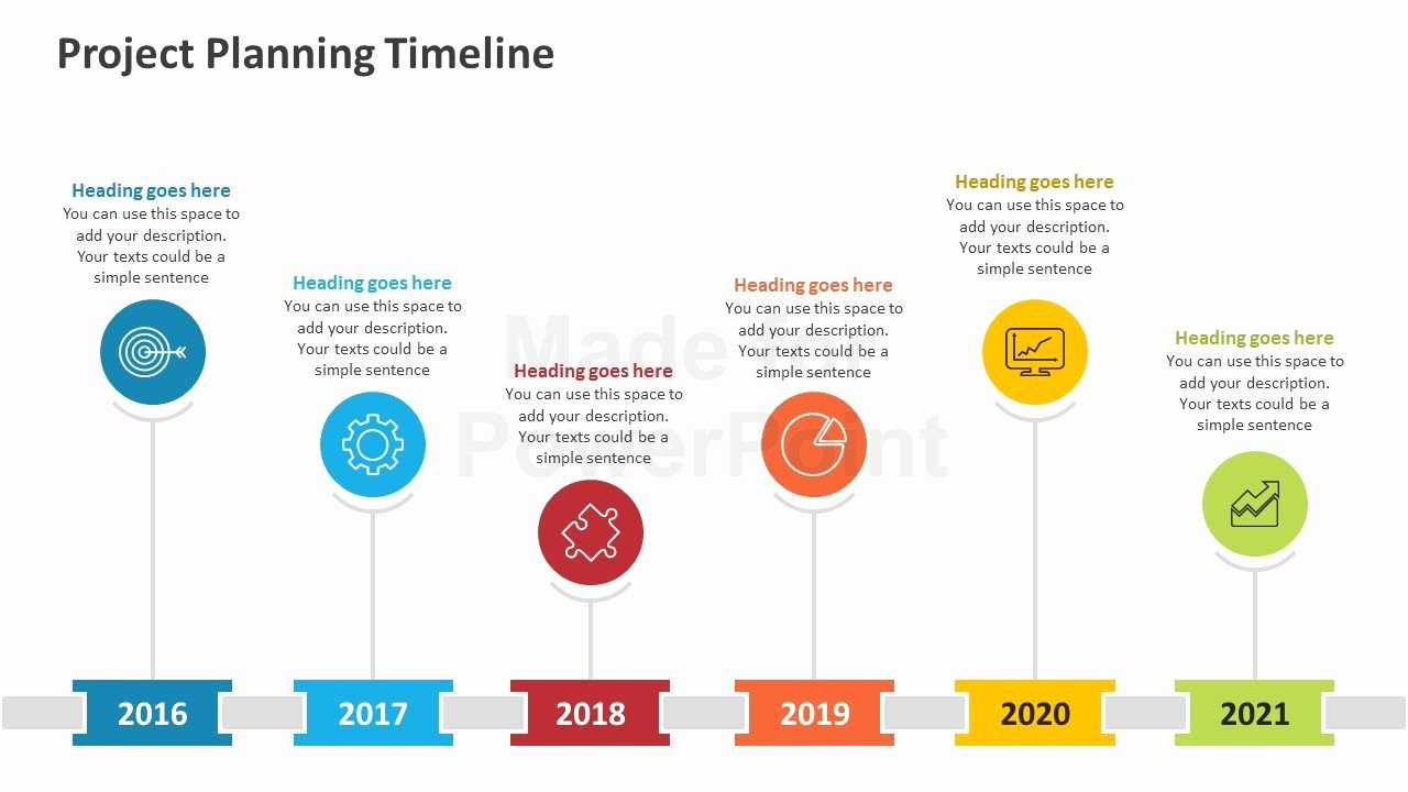 Project Planning Timeline Editable Powerpoint Template