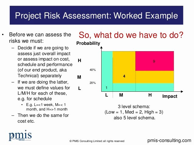 Project Risk assessment Worked Example