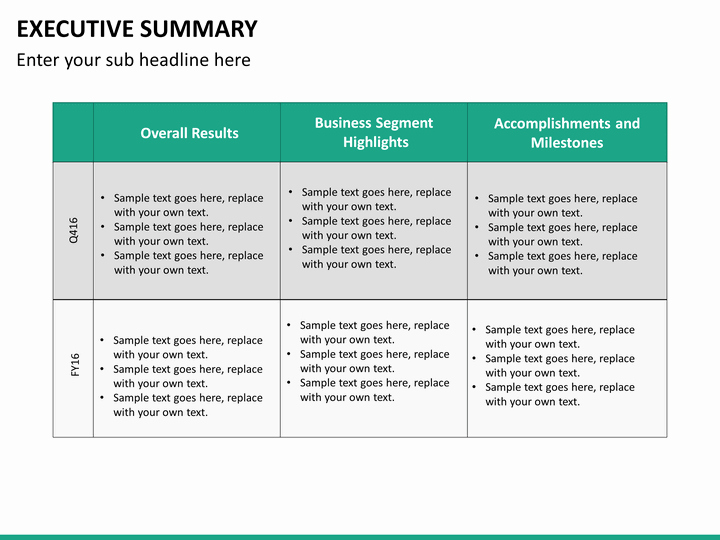 Project Summary Template Powerpoint Mershiafo