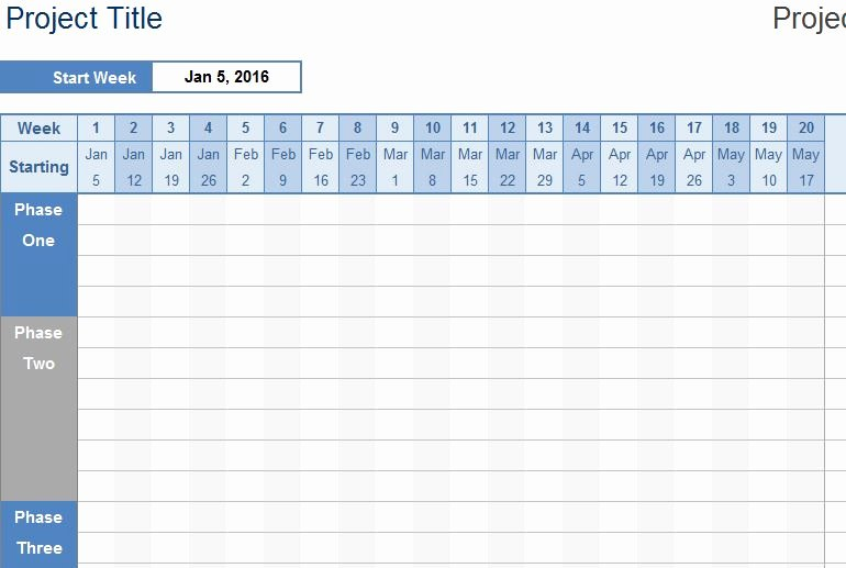 Project Timeline Spreadsheet Template Haven