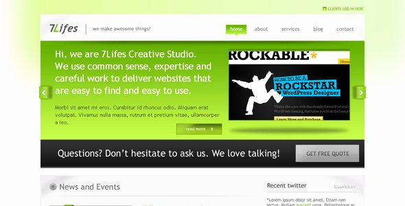 Prolucrative Web 2 Business themeforest Takcork