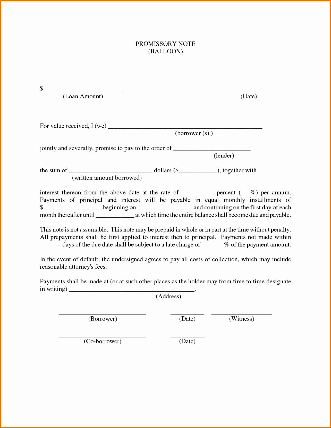Promissory Note Free Download Portablegasgrillweber