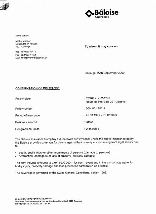 Proof Health Insurance Letter