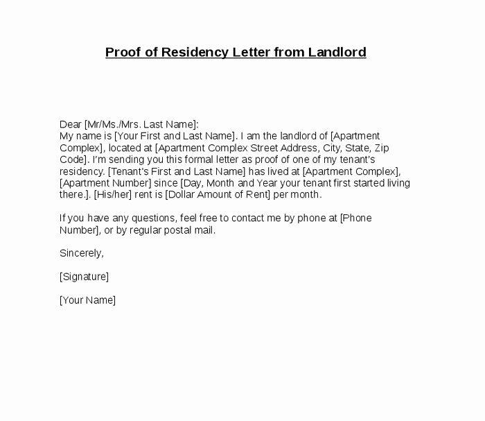 Proof Residency Letter Cialisnetsfo