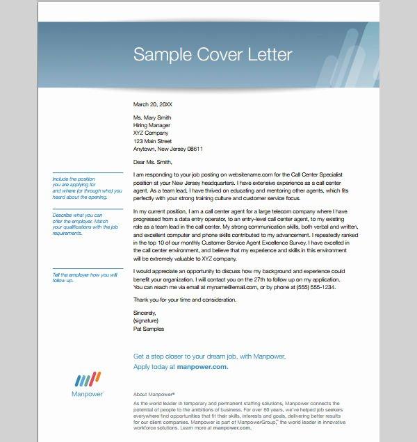 Proper Call Center Cover Letter – Letter format Writing