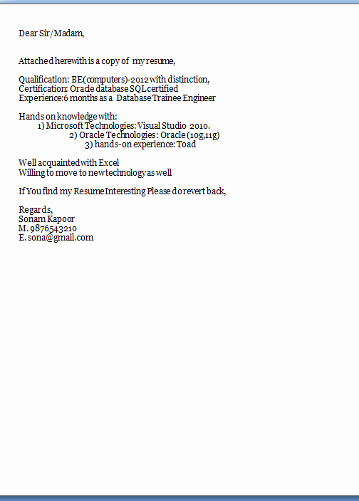 Proper Cover Letter Format Latter Example Template