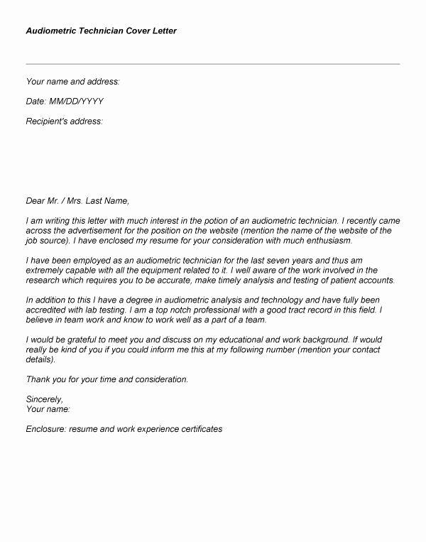 Proper Radiologic Technologist Cover Letter – Letter