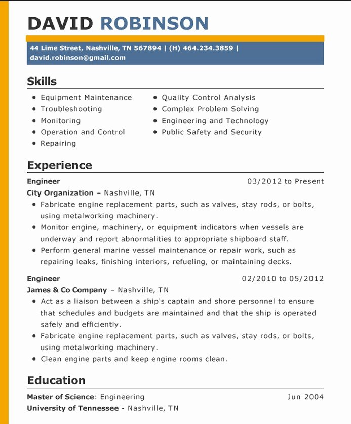 Proper Resume format