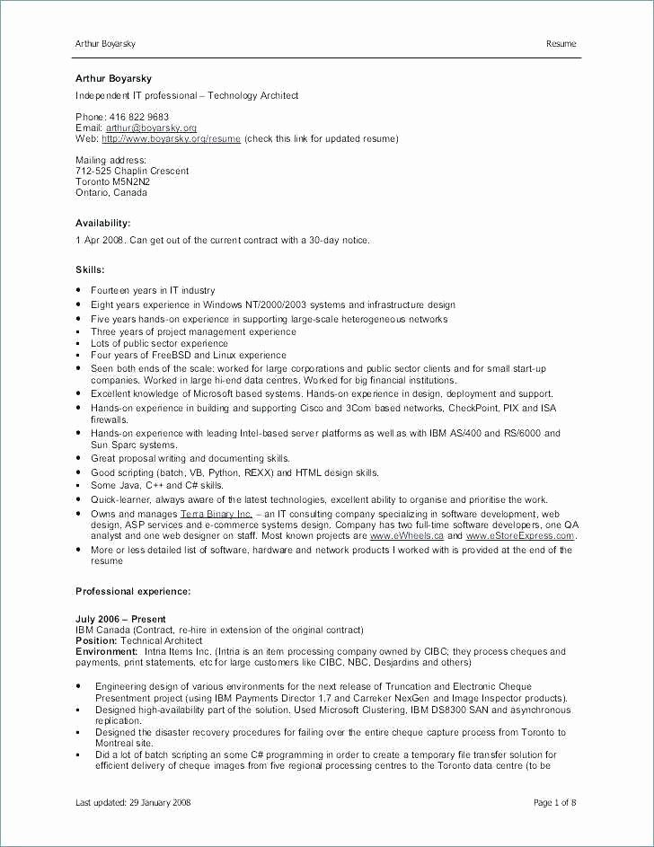 Proper Resume format 2017 Elegant Resume format In Word