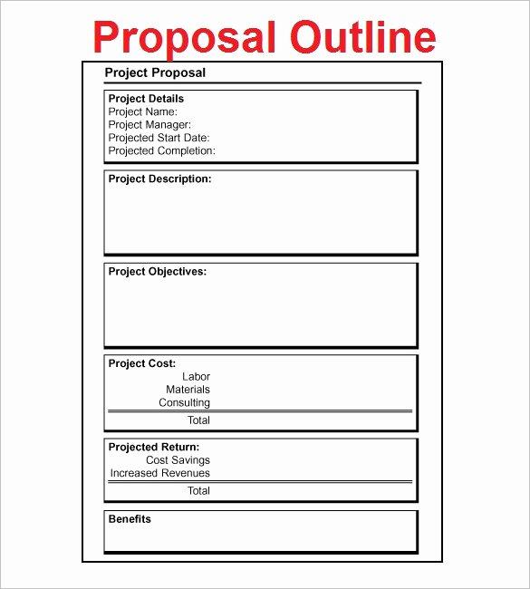 Proposal Outline Templates 20 Free Free Word Pdf