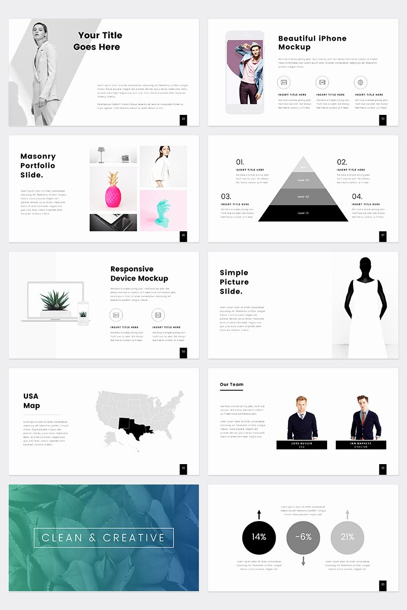Prothom Creative and Minimal Powerpoint Template