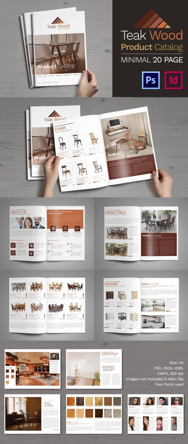 Psd Catalogue Template 53 Psd Illustrator Eps
