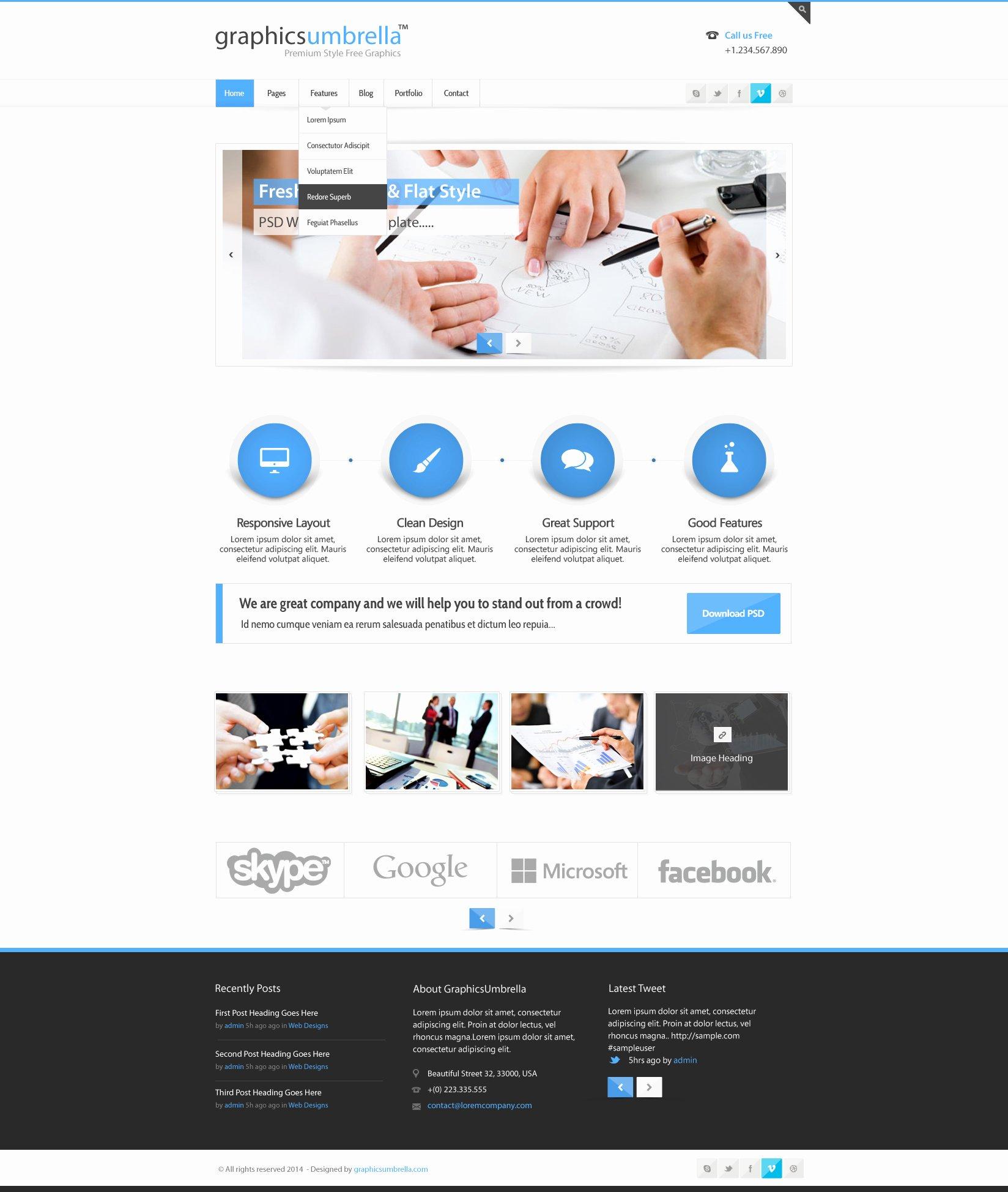 Psd Corporate Business Web Design Template – Designscanyon