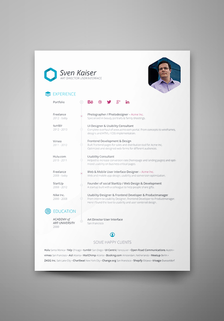 [psd] Free Resume Template 2015 Stagepfe