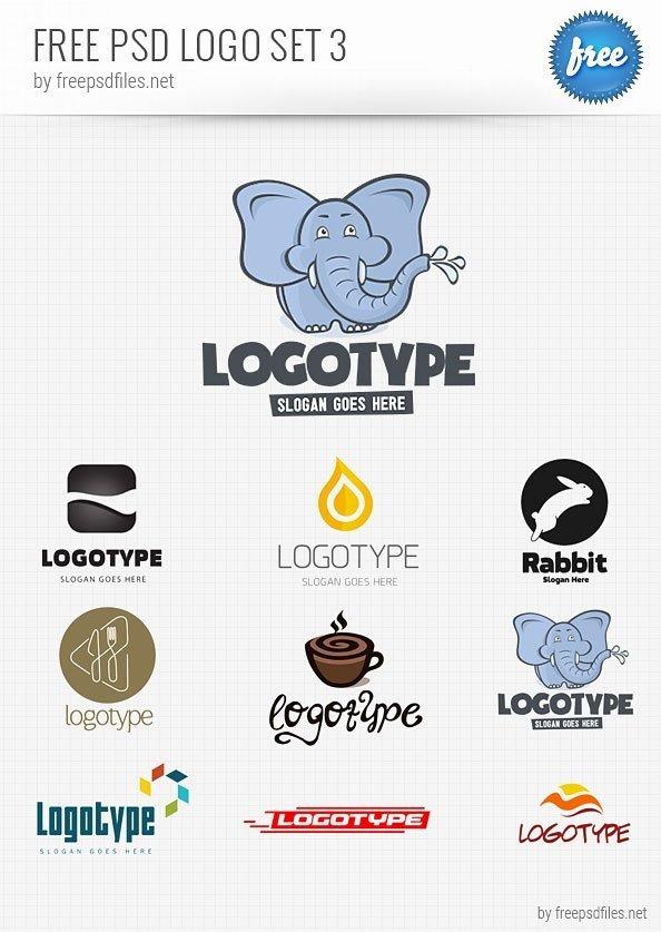 Psd Logo Design Templates Pack 3 Free Psd Files