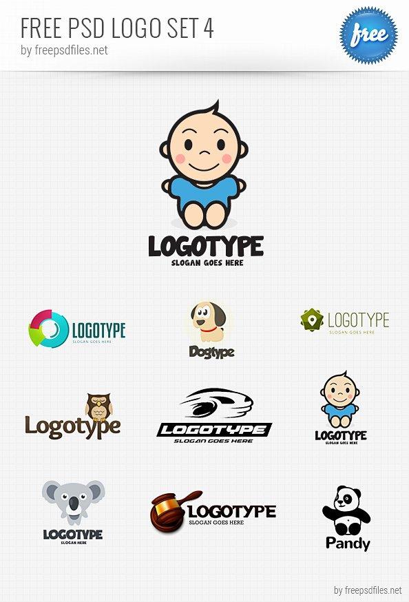Psd Logo Design Templates Pack 4 Free Psd Files