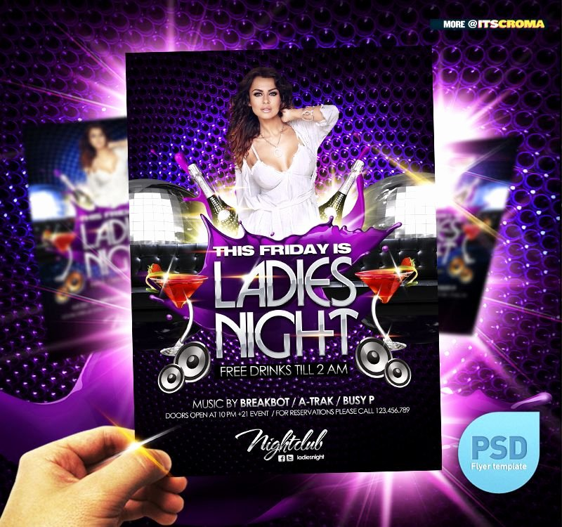 Psd Night Club Party Flyer La S Night