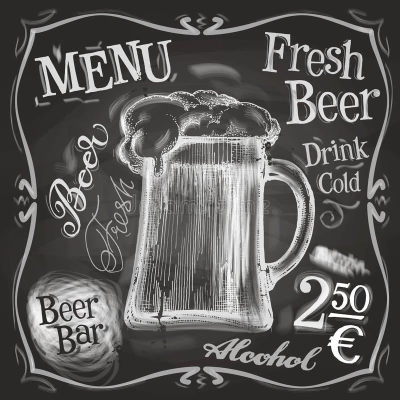 Pub Vector Logo Design Template Beer Mug Menu Stock