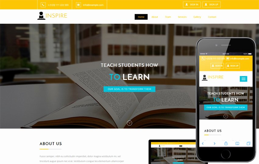 Public Library Education Mobile Website Template by W3layouts