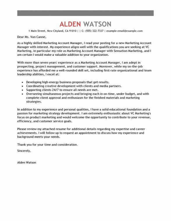 Public Relations Cover Letter
