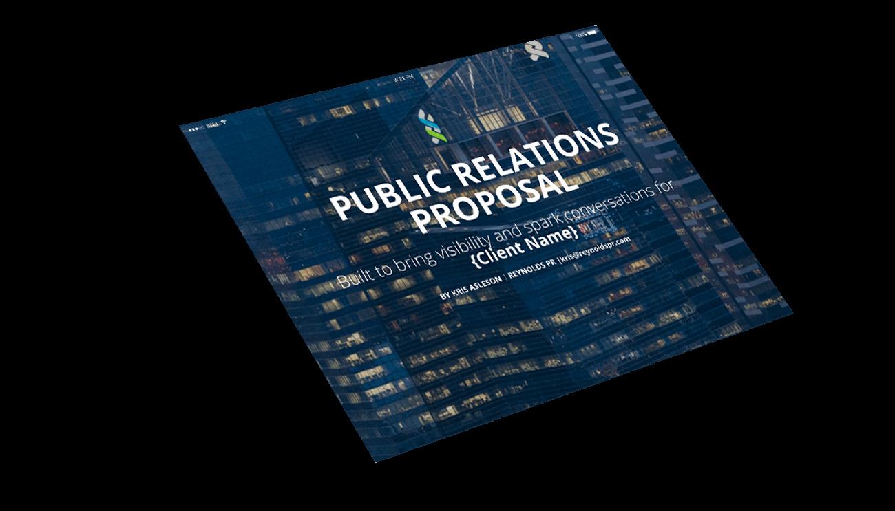 Public Relations Proposal Template Free Pr Proposal