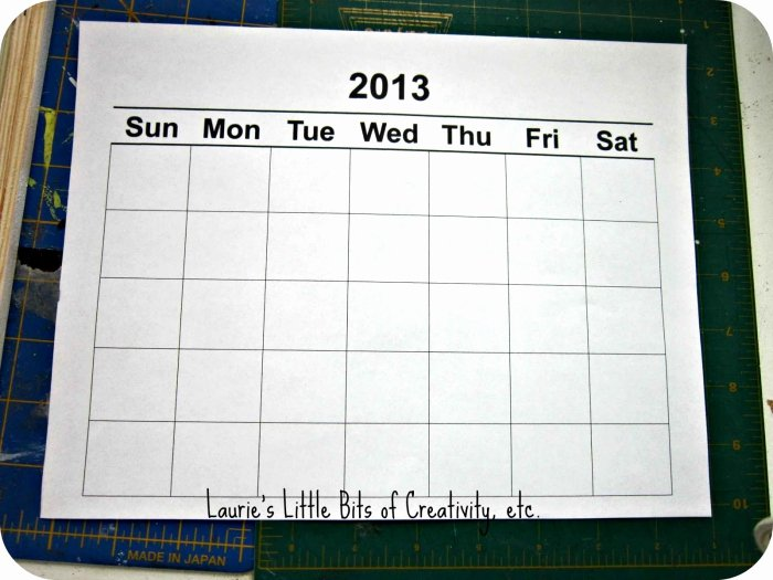 Publisher Understated Calendar Template
