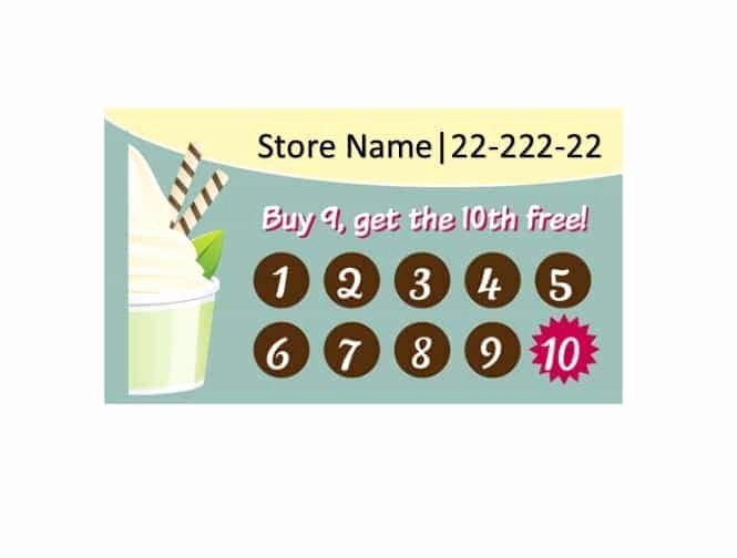 Punch Card Templates 106 Best Rewards Images On Pinterest