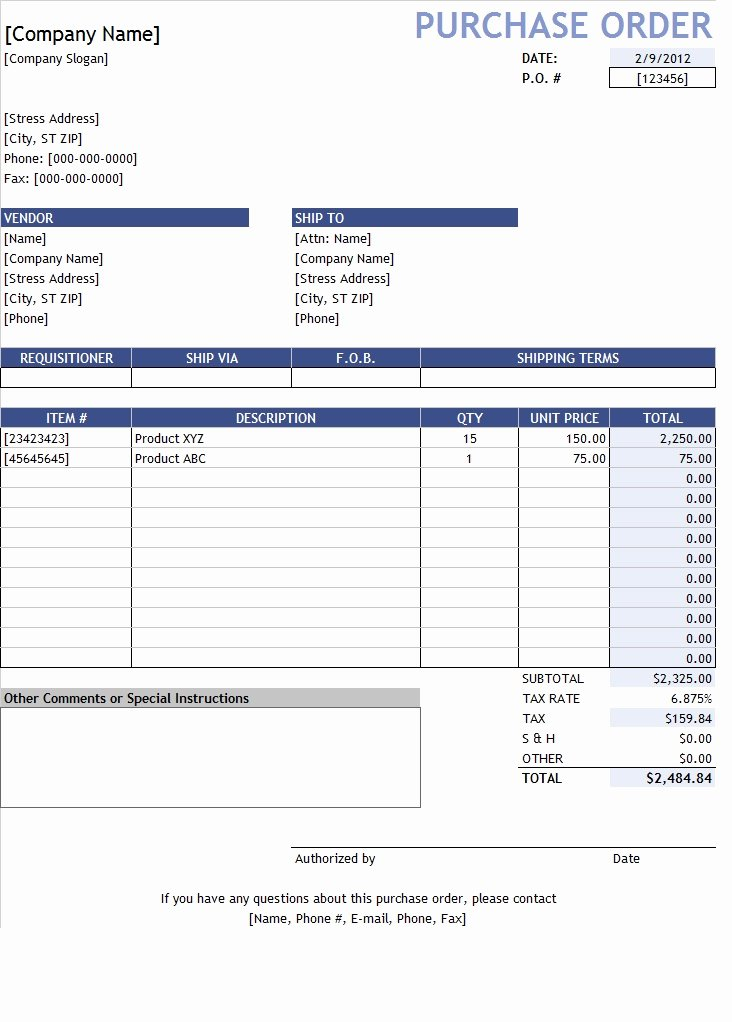 Purchase Request form Excel Template Template Sample