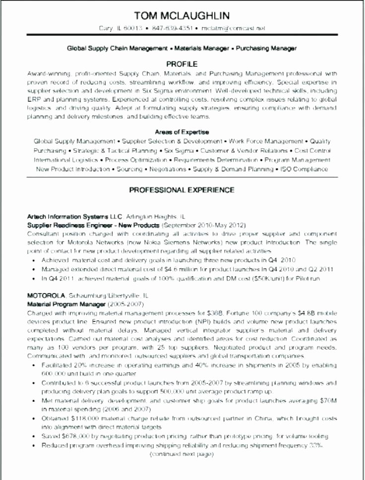 Purchasing Resume Sample – Wlcolombia