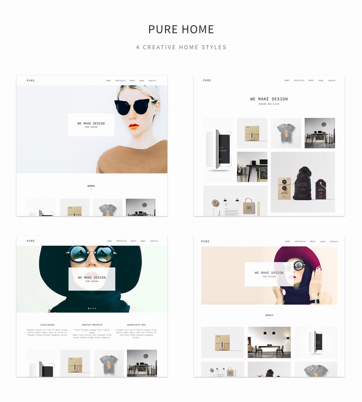 Pure – Creative Portfolio Muse Template Pure – Creative