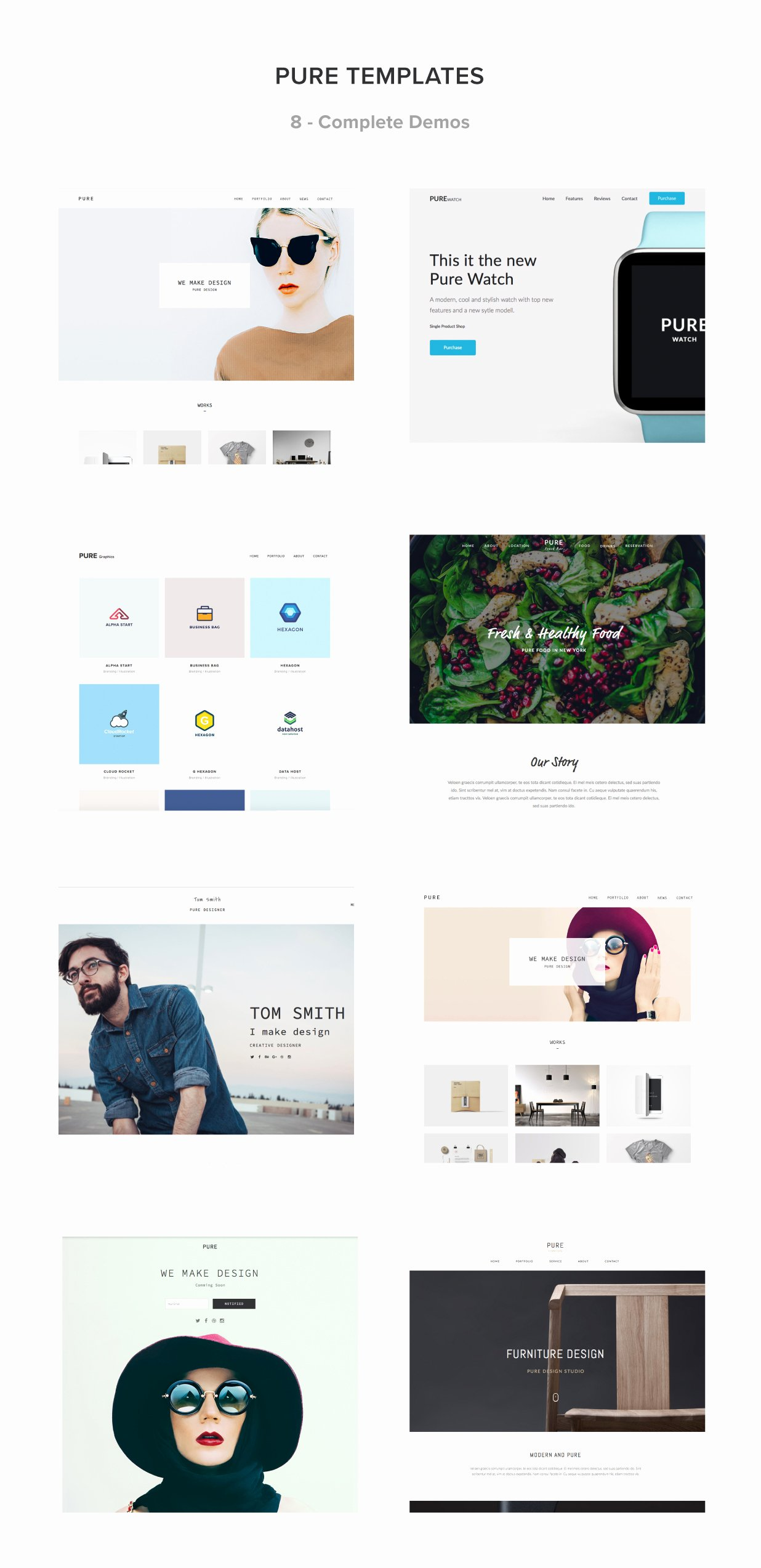 Pure Responsive Creative Portfolio Muse Template by