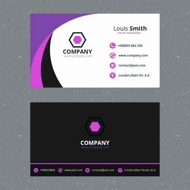 Purple Business Card Template Psd File