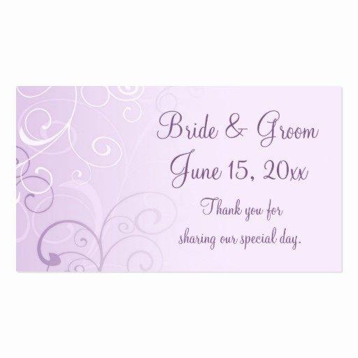 Purple Swirls Wedding Favor Tags Business Card Template