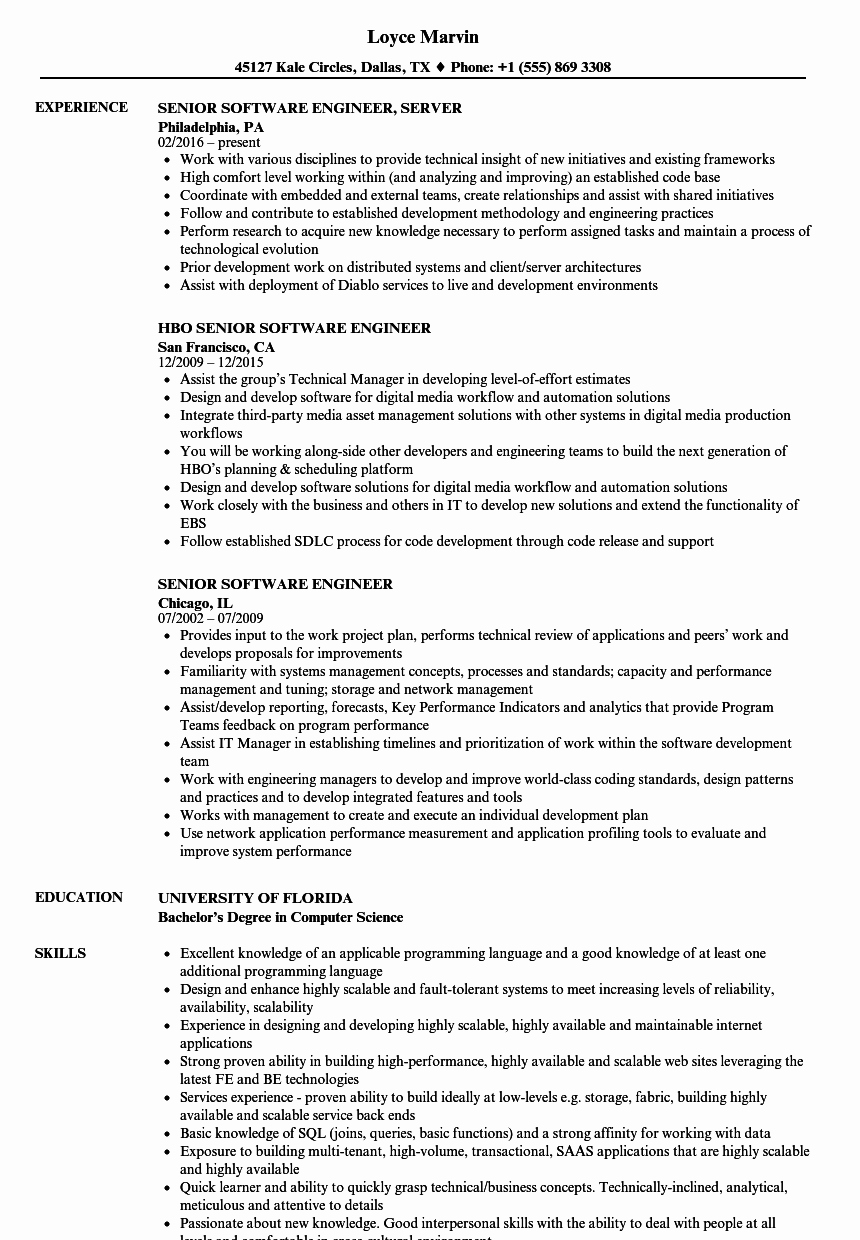 Puter Engineer Resume Talktomartyb