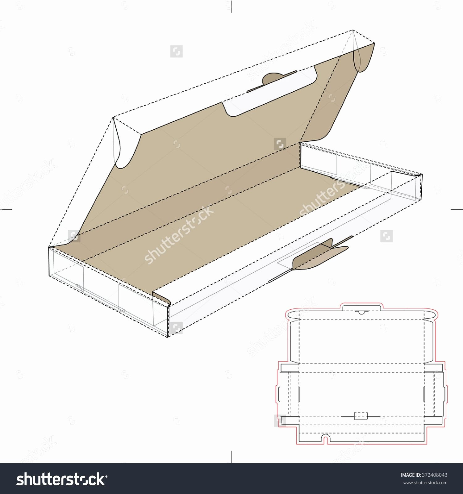 Puter Keyboard Box with Die Cut Template Stock Vector