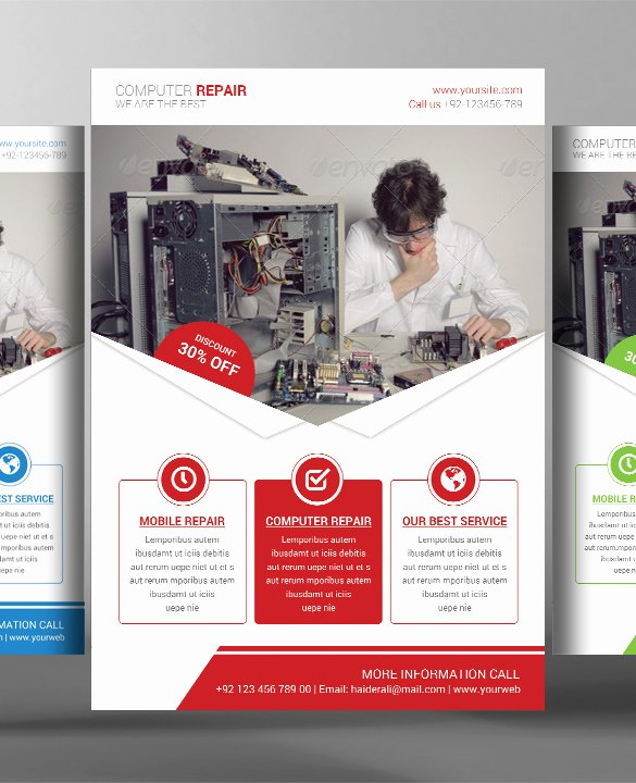 Puter Repair Flyer S Free Psd Ai format Downl and Free