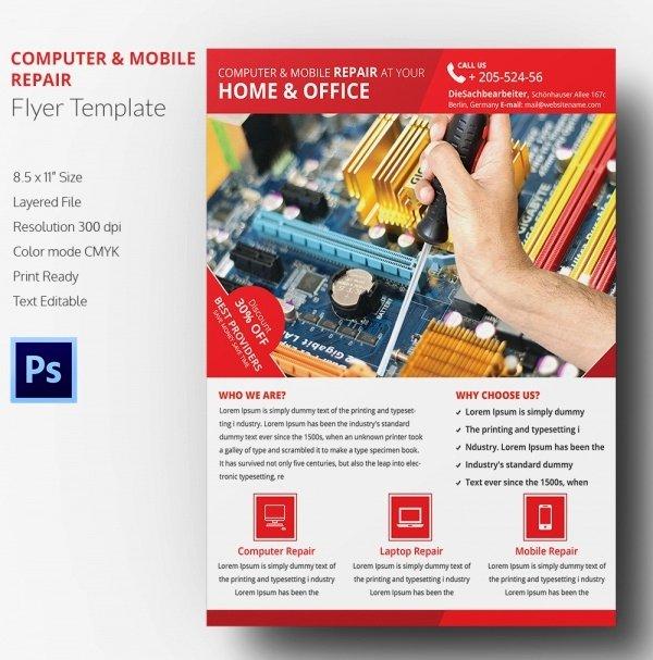 Puter Repair Flyer Template – 21 Free Psd Ai format