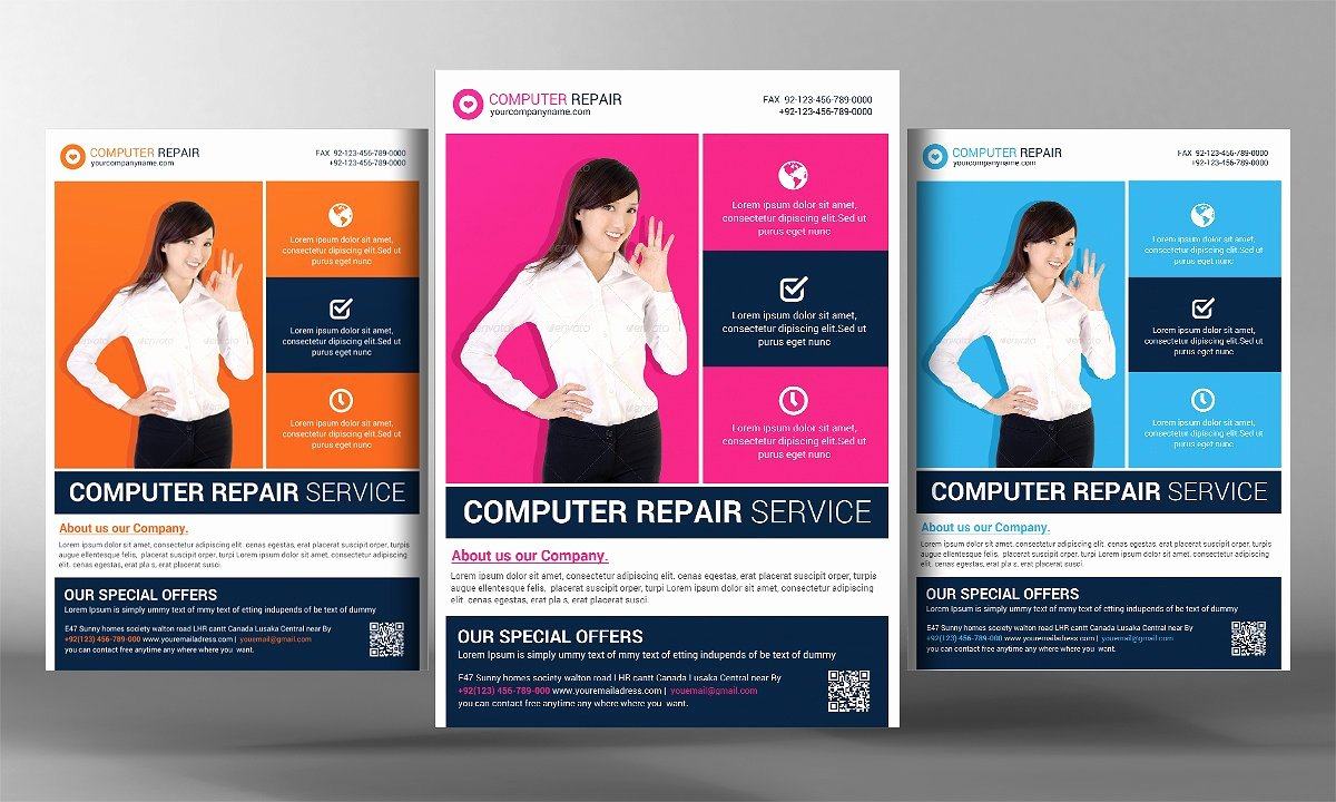 Puter Repair Flyer Template Flyer Templates