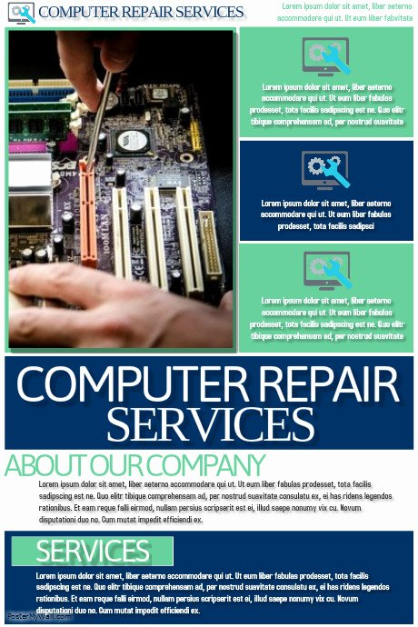 puter repair services flyer template