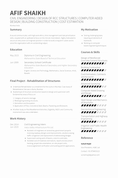 Resume Format For Puter Science Engineering Students Latter