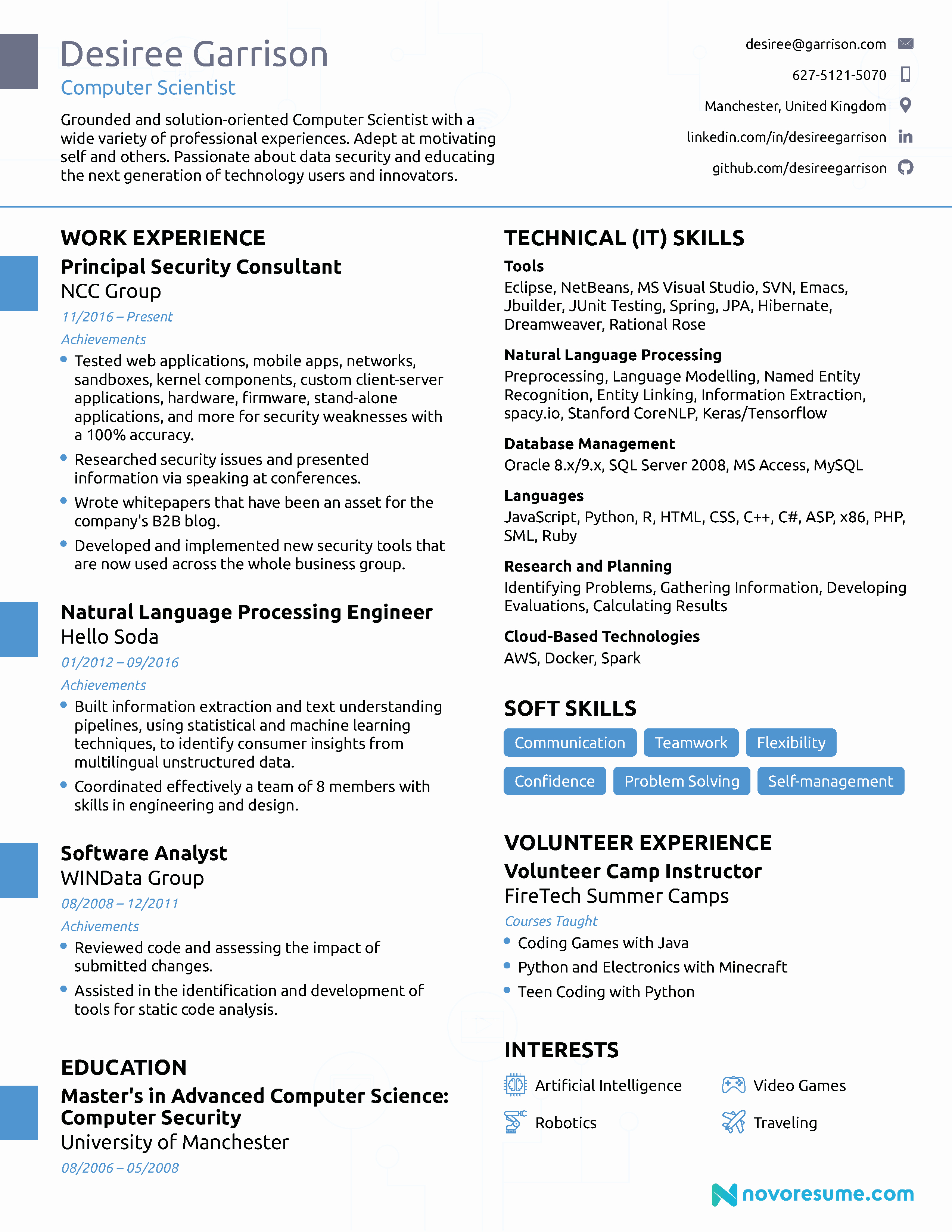 Puter Science Resume [2019] Guide & Examples