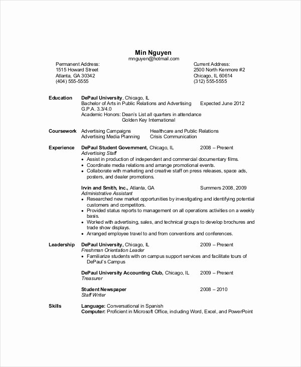 Puter Science Resume Template 8 Free Word Pdf