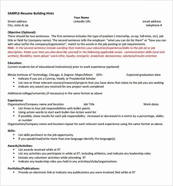 Puter Science Sample Resume