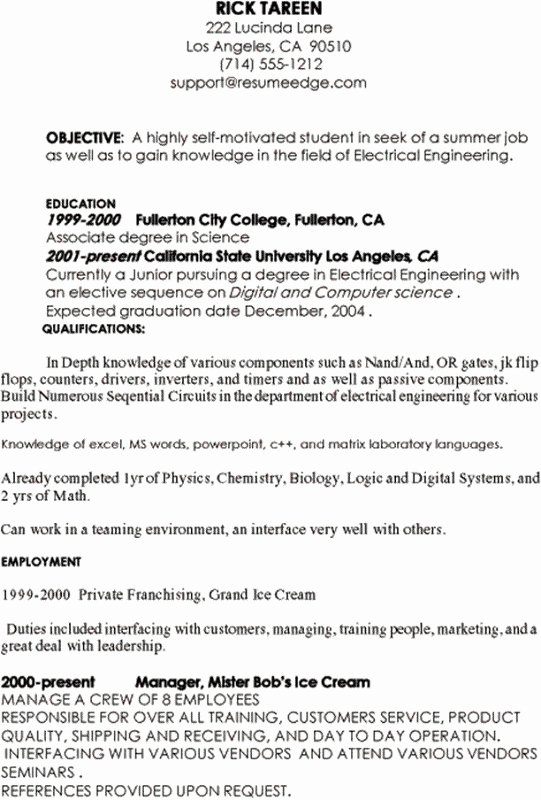 Puter Science Student Resume Best Resume Collection