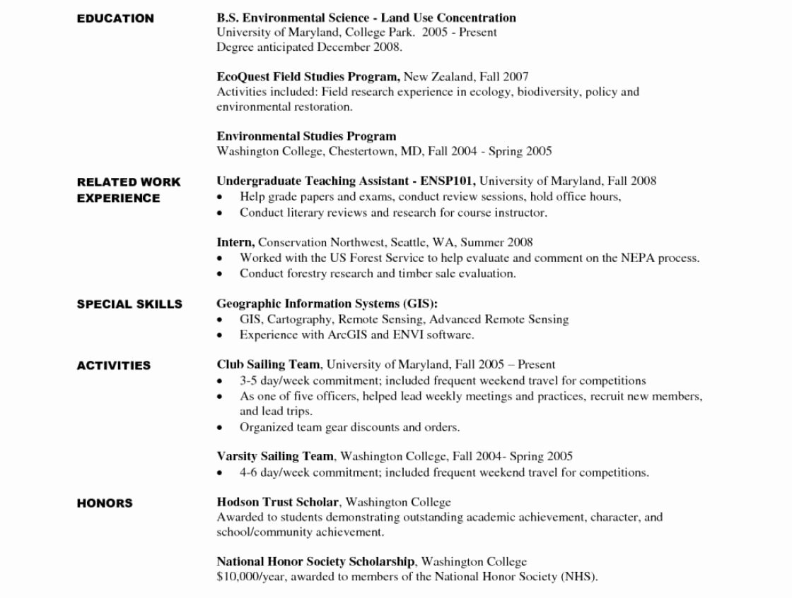 Puter Science Student Resume No Experience Resume