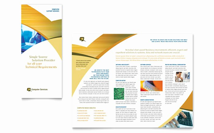 Puter Services & Consulting Tri Fold Brochure Template